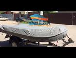 Тент транспортировочный (стояночный) на надувную лодку ПВХ длиной 360, 370, 380, 390 см.