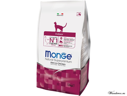 Monge Cat Indoor Монж Индор, корм для домашних кошек с курицей 1,5 кг