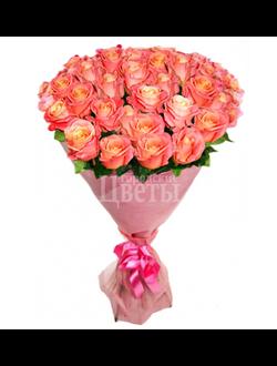 Букет из 51 розовой розы Miss Piggi