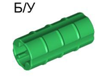 ! Б/У - Technic, Axle Connector 2L  Ridged with x Hole x Orientation , Green (6538b / 4113806 / 4234660) - Б/У
