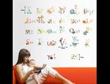 Многоразовые виниловые детские наклейки на стену Английский Алфавит