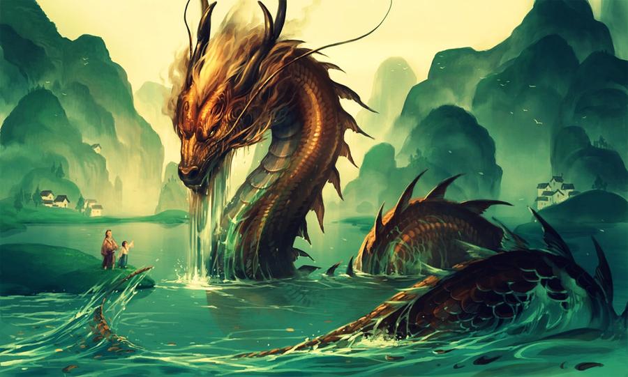 Богатый дракон обои на рабочий стол