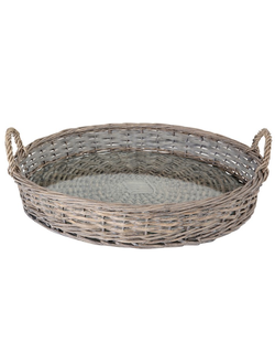 Набор подносов TRAY ROUND JOSEPHINE NATURAL D51CM WILLOW+GLASS 29940
