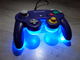 LED mod Контроллер для Nintendo GameCube Clear - Purple (Прозрачно - Синий)