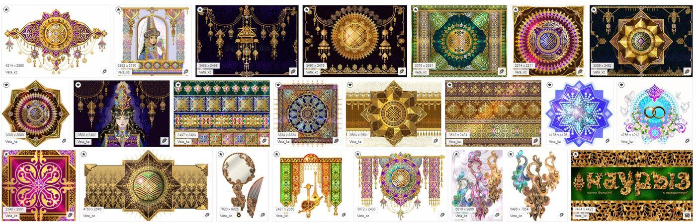 Ювелирные орнаменты в восточном стиле