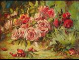 "Круглова Светлана. ""Розовое наслаждение"",  холст / масло,  45 х 60 см.,  2016 г."