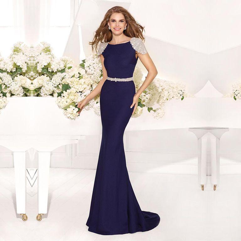 11b4e63f2ef84e9 Синее вечернее платье в форме
