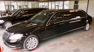 Elongated and armored limousine based on a Mercedes-Benz S600 V221 +1350mm, B6, 2008 YP