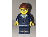 Businesswoman - Dark Blue Pants Suit, Glasses, n/a (cty0656)