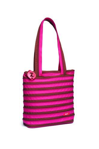 Молодежная сумка Zipit Premium Tote Beach Bag  розовый коричневый