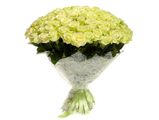 101 белая роза букет Вальс