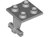 Plate, Modified 2 x 2 Thin with Dual Wheels Holder - Split Pins, Light Bluish Gray (4870 / 4211516)