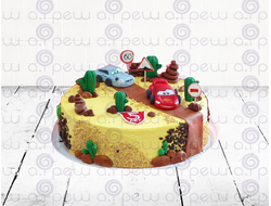"""Торт № 18 """"Тачки 2"""" (Детские торты)"""