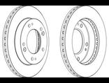 Диск тормозной передний KIA Sportage