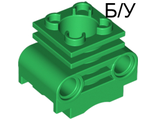 ! Б/У - Technic, Engine Cylinder without Side Slots, Green (2850b / 6065495) - Б/У