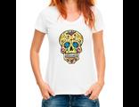 Футболка с мексиканским черепом