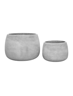 Горшок POT X2 GYSTE GREY D32.5XH22.5+D46XH31CM FIBRE CLAY арт. 30809