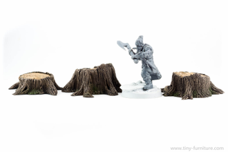 THREE STUMPS (painted)