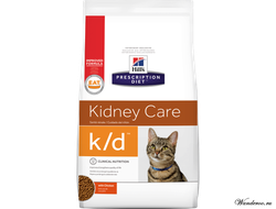 Hill's Prescription Diet Kidney Care K/D Хиллс Корм для кошек при заболеваниях почек - курица, 0,4 кг. Артикул: 5484W