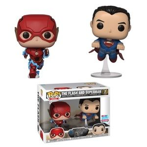 Эксклюзивная фигурка Funko POP! The Flash and Superman (Racing) (2-Pack) [Fall Convention] -  Фанко