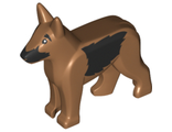 Dog, Alsatian / German Shepherd with Black Eyes, Nose, Muzzle and Sides Pattern, Medium Nougat (92586pb04 / 6155416)