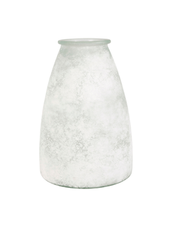 Ваза VASE ANDALOU WHITE D23X33.5CM GLASSарт.32184