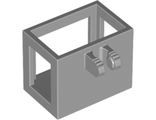Crane / Bucket Lift Basket 2 x 3 x 2 with Locking Hinge Fingers, Light Bluish Gray (51858 / 6052224 / 6138584)