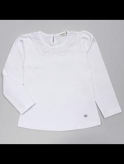 Блузка (кружевной воротник) (белый) | арт.90554