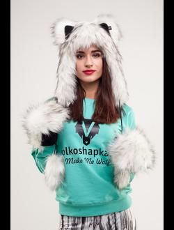 Комлект Полярный Волк мини и варежки