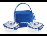 Термосумка с 2 вакуумными контейнерами Miniland Pack 2 Go Hermifresh Синяя