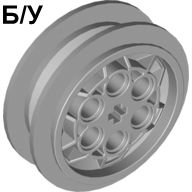 ! Б/У - Wheel 43.2mm D. x 18mm flush axle stem, Light Bluish Gray (86652 / 4551421) - Б/У