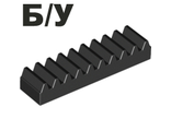 ! Б/У - Technic, Gear Rack 1 x 4, Black (3743 / 4205760) - Б/У