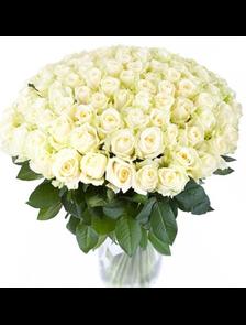 Букет 101 роза Лайт