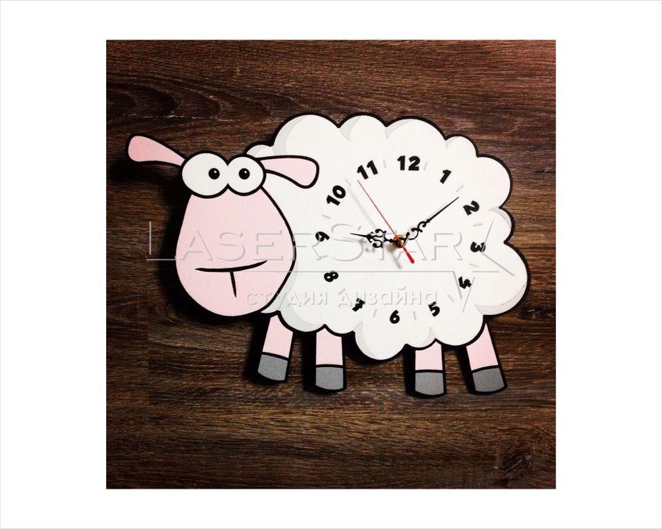 Часы овечка