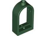 Window 1 x 2 x 2 2/3 with Rounded Top, Dark Green (30044 / 6003056)