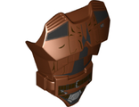 Large Figure Torso with SW Han Solo Pattern, Reddish Brown (21561pb19 / 6221705)
