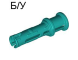 ! Б/У - Technic, Pin 3L with Friction Ridges Lengthwise and Stop Bush, Dark Turquoise (32054 / 4140804) - Б/У