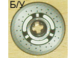 ! Б/У - Technic, Disk 3 x 3 with Disk Brake 3 Spokes, Black Dots on Gray Pattern (Sticker) - Set 8445, Black (2958pb020) - Б/У