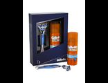 Набор Gillette Fusion, с 1 сменной кассетой + гель для бритья Hydrating (Увлажняющий) 75 мл