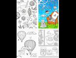 """Набор из 12 тонких открыток раскрасок """"Счастье"""""""