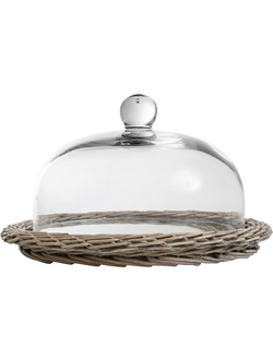 Клош  BELL JOSEPHINE NATURAL D38XH20CM WILLOW+GLASS 29935