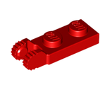 Hinge Plate 1 x 2 Locking with 2 Fingers on End without Bottom Groove, Red (44302b / 4183050 / 6074865 / 6249371)