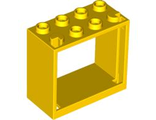 Window 2 x 4 x 3 Frame - Hollow Studs, Yellow (60598 / 4520844)