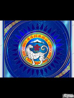 символ Алматы  векторный шаблон, иллюстрация фасада здания.