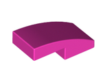 Slope, Curved 2 x 1 No Studs, Dark Pink (11477 / 6132918)