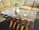 Деревянные бочки столы