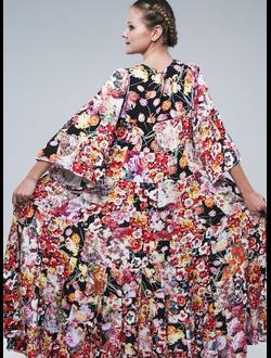 Платье лоскутное из штапеля