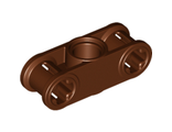 Technic, Axle and Pin Connector Perpendicular 3L with Center Pin Hole, Reddish Brown (32184 / 6179642)