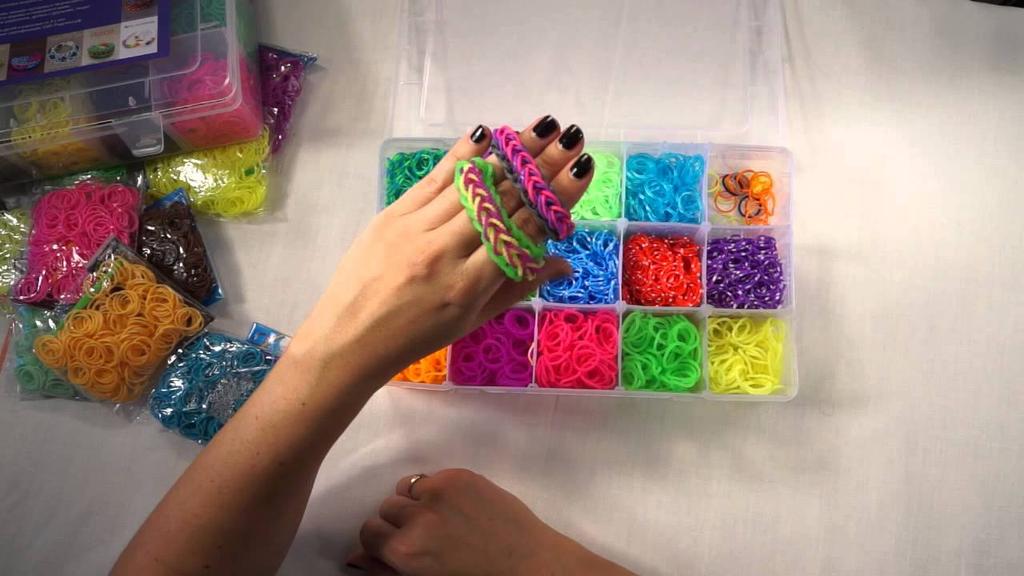 Как сделать из резинок разные браслеты
