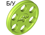 ! Б/У - Technic Wedge Belt Wheel (Pulley), Lime (4185 / 4494219) - Б/У